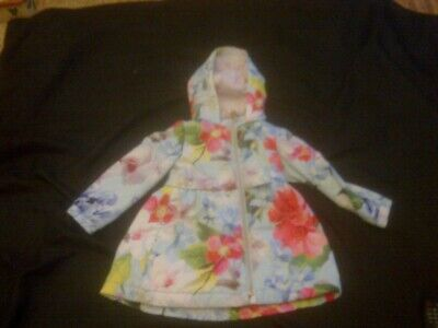 Girls TED BAKER coat.  Floral. Age 2-3 Years