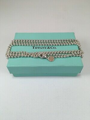 Tiffany & Co. Sterling Silver Mini Bead Ball Necklace