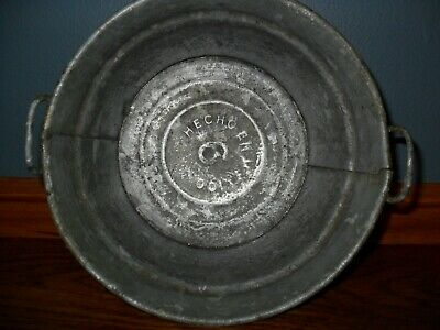 Vintage Salesman Sample - Hecho Brand Galvanized Metal Washtub - Bucket - Tub
