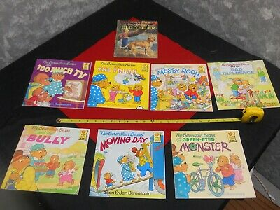 Lot of 7 The BERENSTAIN BEARS Books by Jan & Stan Berenstain & MORE