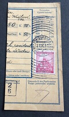 Bohemia & Moravia German occupation - used stamp on paper cancelled 1940