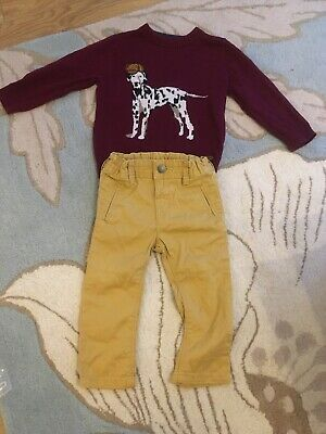 Marks And Spencer Autograph Boys Jumper And Trousers Outfit 12-18 Months