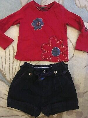 Girls Top & Shorts Winter Christmas Outfit 2-3yrs