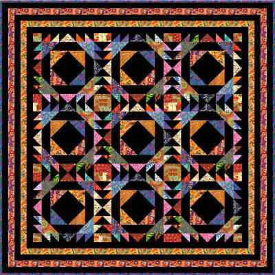 """TAINTED LOVE - 67"""" - Quilt-Addicts Pre-cut Patchwork Quilt Kit Double size"""