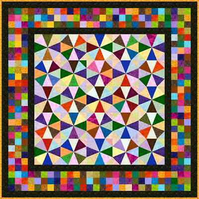 """IRONICAL - 61"""" - Pre-cut Quilt Kit by Quilt-Addicts Double size"""
