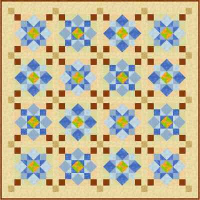 """MORNING DEW - 65.5"""" - Quilt-Addicts Precut Patchwork Quilt Kit Double Size"""