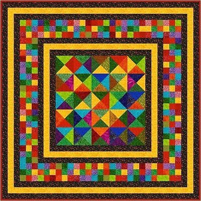 """JELLY BEANS - 67"""" - Quilt-Addicts Precut Quilt Kit Double size"""