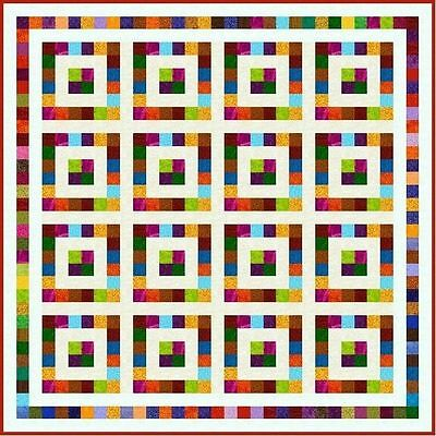 """SQUARESVILLE - 67"""" - Pre-cut Quilt Kit by Quilt-Addicts Double size"""