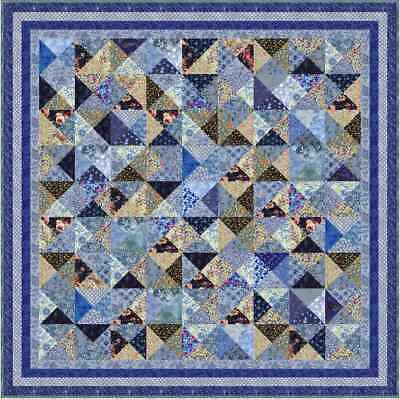 """KEW GARDENS - 67"""" - Pre-cut Quilt Kit by Quilt-Addicts Double size"""