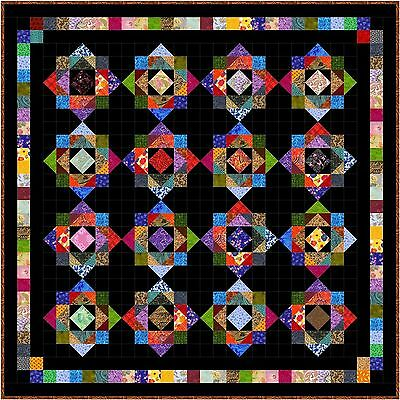 """HODGE PODGE - 61"""" - Quilt-Addicts Pre-cut Patchwork Quilt Kit Small Double"""