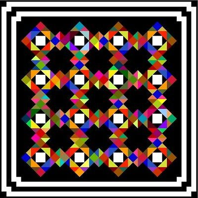 """NONCHALENT - 61"""" - Pre-cut Quilt Kit by Quilt-Addicts Small Double size"""