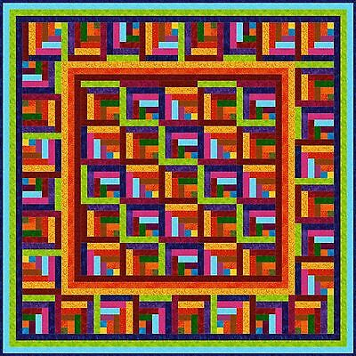 """ZAPPA - 55"""" - Pre-cut Quilt Kit by Quilt-Addicts Lap size"""