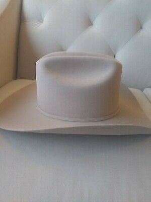 Stetson Cowboy Hat 6X Beaver Fur SilverGrey Lockhart-Brush+Shipping+No Tax Sale!