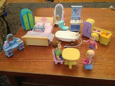 Assortment of Doll house furniture