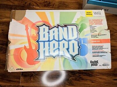 Band Hero Wii, Drums, Microphone & Guitar Set Boxed