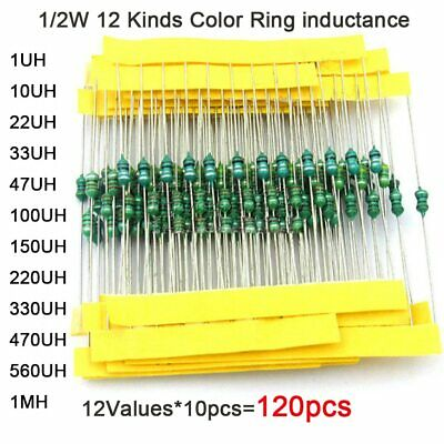 120pcs Inductor color ring kit 0510 1watt 12values 10uH~10mH