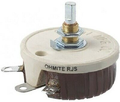 Arcol Ohmite RHEOSTAT RJS50RE 50W 50Ω 1A Linear Shaft, Panel Mount, Solder Lug