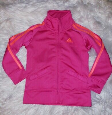 Adidas 2t girls pink orange stripe jacket