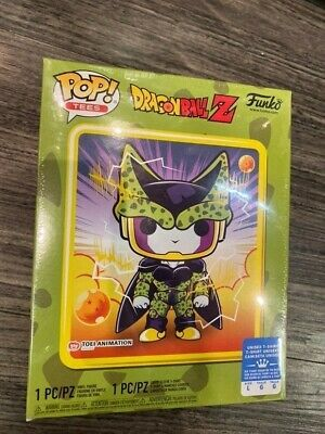 Funko Pop! Dragon Ball Z Metallic Perfect Cell  #13 Gamestop Exclusive Lg-Tshirt
