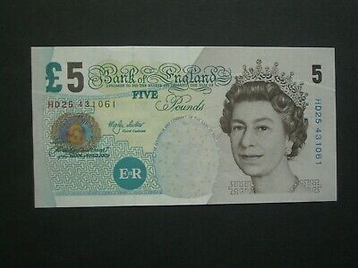 **Nice' ** GB Lowther  £5 Crisp 'EF' 2002 Banknote******