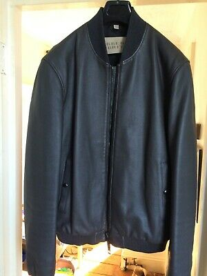 Burberry Brit Mens Calf Leather Bomber Jacket Lge40 A1 Excellent Cond. RRP £1800