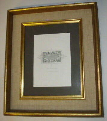 Micro Print Mini Engraving DECLARATION INDEPENDENCE Toppan American Bank Framed