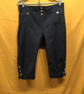 Knee Breeches, Size 42 Black- Rendezvous, Mountain Man, Colonial, Pirate
