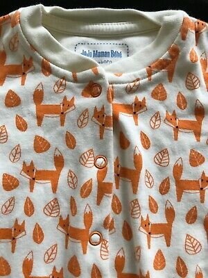 JoJo Maman Bebe (EUC /NWOT??) Orange Fox Footie-Newborn
