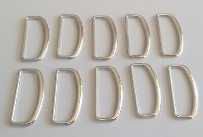 Metal D-Rings Buckles for Webbing/Fabric Strap Bag Making 35mm x 16mm - 10 pcs