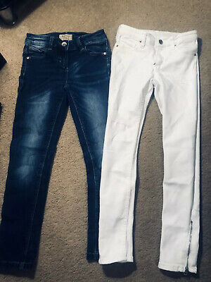 Two Pairs Of Girls Jeans Next And H&M Age 8-9