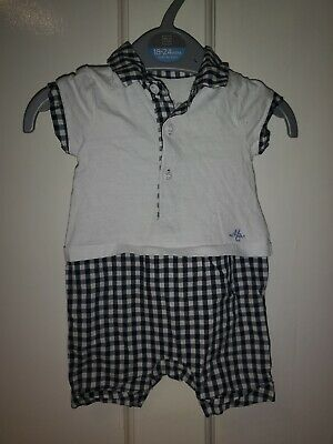 Mothercare Heritage Collection Baby Boy Romper Age Up To 1 Month