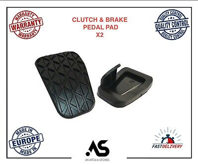 2 X Ford Fiesta 2008 Onwards Clutch Brake Pedal Pad Rubber Cover Ey162457Aa