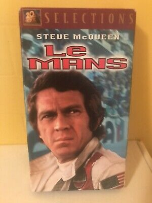 Le Mans - VHS - Starring STEVE McQUEEN! 1971 Auto Racing Action Film Used