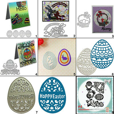 Happy Easter Egg Metal Cutting Dies Stencil DIY Scrapbooking Card Embossing Art