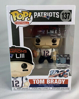 Funko POPS NFL Tom Brady New England Patriots Super Bowl Championship 137