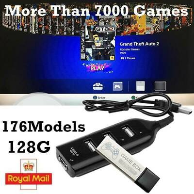 NEW 128G PS1 MINI True Mini Crackhead Pack For Playstation Built-in 7000 Games~~