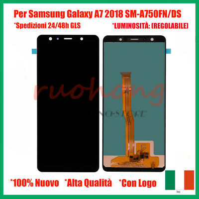 Display Lcd + Touch Per Samsung Galaxy A7 2018 A750 Sm-A750Fn/Ds/F Nero