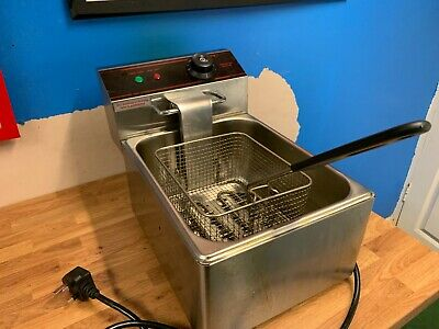 6L Commercial Electric Deep Fat Fryer Chip Single Tank Fry Stainless