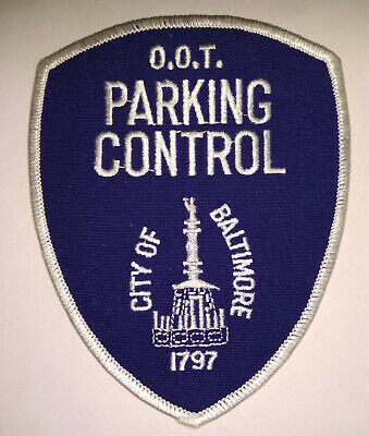 City of Baltimore Maryland Parking Control Patch // FREE US SHIPPING!
