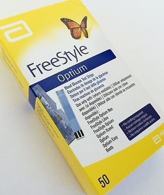 2 X TIRAS GLUCOSA FREESTYLE OPTIUM 50 Uds.(2 packs. Total 100 uds.)