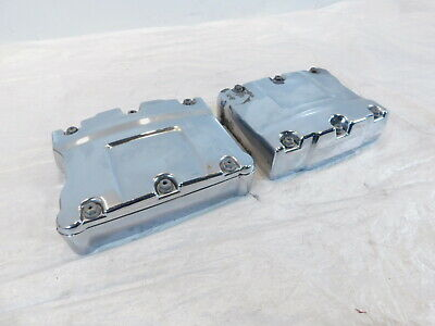Harley Chrome Twin Cam Touring Dyna & Softail Cylinder Head Cover Rocker Boxes