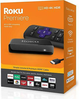 Premiere 4 K Ultra HD HDR Streaming Media Player Device Black Home Audio Theater