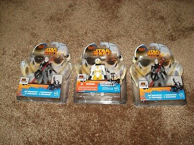 """Star Wars Rebels 2014 (Lot Of 3) """"Commander Bly & 2-The Inquisitor"""""""