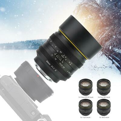 Kamlan 7.5mm 8mm 21mm 50mm 28mm F1.1/1.8 Large Aperture Lens for Mirrorless Cam