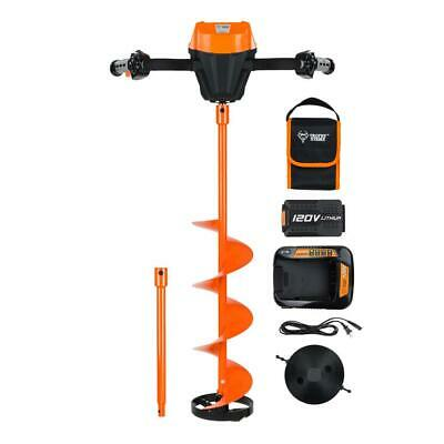 Trophy Strike Ice Auger Hole Digger 120-Volt Lithium Ion 8 in. Powered Digging
