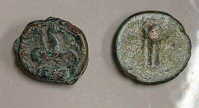 Two ANCIENT Greece GREEK Coins Lot  (#L1897)