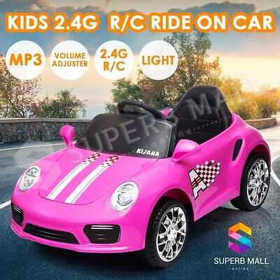 Kids Ride On Car Electric Powerful Double Motor Car Toy 12V Remote Control Pink