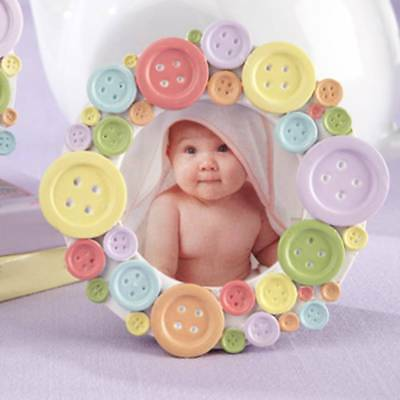 Baby Shower Round Photo Frame Buttoned Picture Frame Home Photo Display Rack o