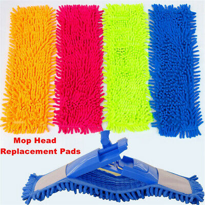 Mop Pads Cloth Reusable Flat Replacement Heads Floor Cleaning Mop Pad Flat Head/