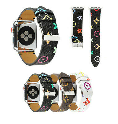 Luxury Brand Design Genuine Leather Watch Band For Apple Watch iWatch Series5/4
